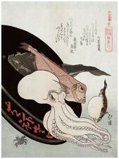 4309.Japanese images of fish and octopus.other fish.POSTER.decor Home Office art