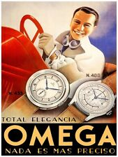 4339.Omega.total elegancia.men. women. watches.POSTER.decor Home Office art