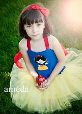 NEW Gorgeous Girls Embroidered Snow White Princess Tutu Party Dress Costume
