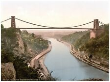 4418.Clifton suspension bridge.over river.POSTER.decor Home Office art