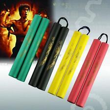 FOAM PADDED PRACTICE NUNCHUCK NUNCHAKUS MARTIAL ART TOY 4 COLORS