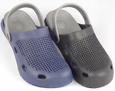 New Mens Clogs Style Casual Sandals Beach Water Shoes Gray Strap  Black Blue