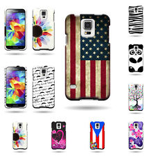 Hard Plastic Shield Snap On Phone Cover Case With Design for Samsung Galaxy S5