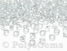 100 x 10MM QUALITY WEDDING TABLE CONFETTI DIAMONDS SCATTER CRYSTALS DECORATIONS