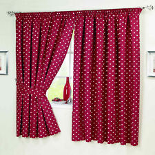 Red White Polka Dot Spotted Spotty Kitchen Short Curtains Tablecloth S Covers
