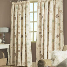 SAGE GREEN Natural Cream Beige Brown LINED CURTAINS Tape Top Lined 46 66 90 108