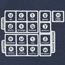 Brand New ELEMENTS OF PARTICLE PHYSICS Shirt, Mens & Fitted Womens, HIGGS BOSON