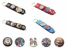 PIERCE THE VEIL BUTTONS SYTHETIC LEATHER KECHAIN KEY RING  Style 1-6