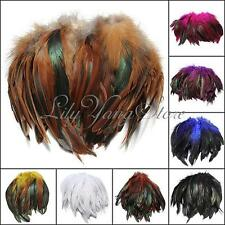 New 100pcs Fluffy Fashion Rooster Feather Fringe Decoration Home Craft DIY 6-8""