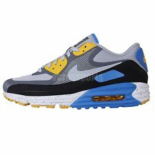 Nike Air Max 90 Lunar90 WR Grey Black Blue 2014 Mens Running Shoes NSW Sneakers