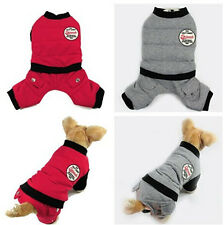 New Warm Soft Small Dog Pet Clothes Apparel Outcoat Jumpsuit Pants Size S,M,L,XL