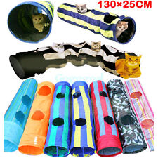 Folding Pet Dog Cat Exercise Fun Tunnel Cave Rabbit Kitten Ferret Play Toy Ball