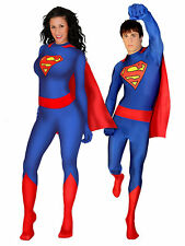 Superman/Supergirl Zentai Skinsuit Unisex Adult Costume