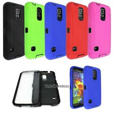 Heavy Duty Shock Proof Rugged Hybrid Duo Layer Case Cover For Samsung Galaxy S5
