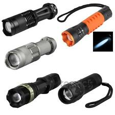500LM CREE Q5 Adjustable Focus Zoomable LED Torch Flashlight Lamp Light
