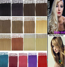 AAA 16''/20'' 16 Color Tape-in 100% Remy Human Hair Extensions 20pcs/set