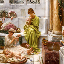 A CORNER OF THE MARKETPLACE BABY GIRL 1887 PAINTING BY EDWARD JOHN POYNTER REPRO