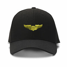 MILITARY PILOT SYMBOL MILITARY Embroidery Embroidered Adjustable Hat Cap