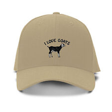 NUBIAN GOAT WESTERN Embroidery Embroidered Adjustable Hat Baseball Cap