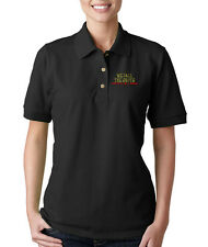 WE CALL THE SHOTS PROUD NURSE Embroidery Embroidered Lady Woman Polo Shirt