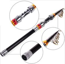 Chic Carbon Fiber Telescopic Vacation Travel Fishing Rod Spinning Pole 2 Sizes Y