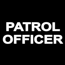 PATROL OFFICER (police soldier military agent star sheriff uniform army) T-SHIRT