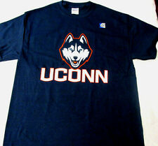 Gildan Unisex UCONN Huskies Navy Blue T-Shirt Tee NEW