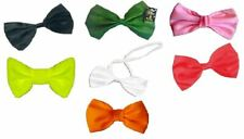 Unisex Plain Coloured Necktie Fancy Dress Party Bow Ties
