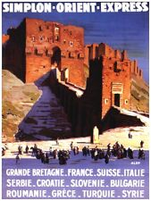 6172.Simplon.orient.express.castle in arab nation.POSTER.Home Office art