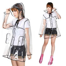 FREE P&P PVC / Vinyl Transparent Clear Rain Coat Mac Raincoat Casual Festival