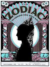 6055.Zodiac.submarine cable service.paper.spanish woman.POSTER.Home Office art