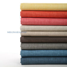 Natural Linen Fabric Multi Colors Flax Curtain Clothes Dress Upholstery Material