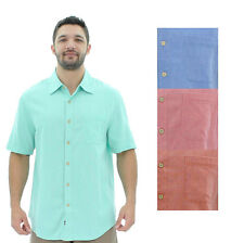 Nat Nast Men's Short Sleeve Woven Bowling Shirt MSRP $125