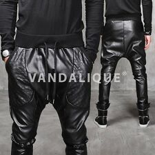 XQUARE 23 Drop Crotch Dark Quilted Leather Pants Kanye A$AP FABRIXQUARE p290 #5