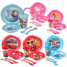 Kids 5 Piece Disney Breakfast Lunch Dinner Supper Plate Bowl Cup Children's Set