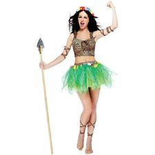 Jungle Girl Costume Adult Womens Sexy Halloween Pop Star Fancy Dress