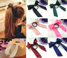 2014 Multicolor Satin Ribbon Bowknot Hair Band Elastic Head Band jf369