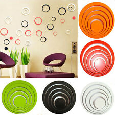 1 Set Indoors Decoration Circles Stereo Removable 3D Art Wall Stickers Usefully