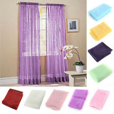 Hot Sheer Romantic Scarf Voile Door / Window Curtains Drape Panel Scarf Assorted