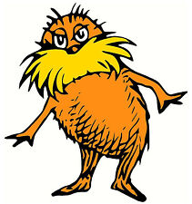 """5-9"""" DR SEUSS CAT HAT LORAX WALL STICKER GLOSSY BORDER CHARACTER CUT OUT"""