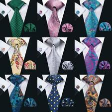 2014 HOT SELLING TOP 20 STYLES! Mens 100% Silk Neckties Tie Hanky Cufflinks Sets