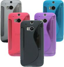 Silicone Skin Case Cover For HTC ONE M8+Screen Protector Film