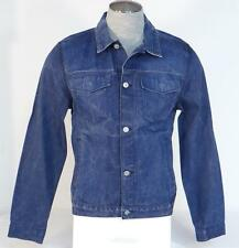 7 For All Mankind Button Front Blue Selvage Denim Jeans Jacket Mens NWT