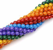 Top Quality Bead String 80pcs Bohemian  Glass Round Spacer Bead Abstract Pattem