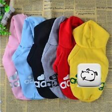 Pet Puppy Dog Cat Coat T-Shirt Clothes 6 Colors Hoodie Sweater SIZE S M L XL XXL