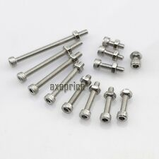 10/50/100pcs Metric Thread M3 304 Stainless Steel Hex Socket Head Screw Bolt Nut