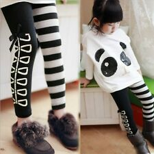 New Kids Clothing Sweet Girls Classical Black And White Design Leggings Ages3-8Y