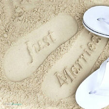 Just Married Mr & Mrs Bride & Groom Wedding Honeymoon Gift Flip Flops Sandals