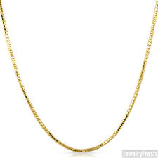 2mm 14k Gold Finish 925 Silver Shiny Box Snake Chain 24 - 30 inches