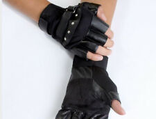 Competitive Prices Mens Leather Fingerless Gym Driving Motorcycle Biker Gloves